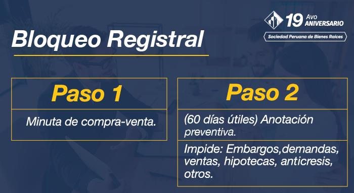 BLOQUEO REGISTRAL