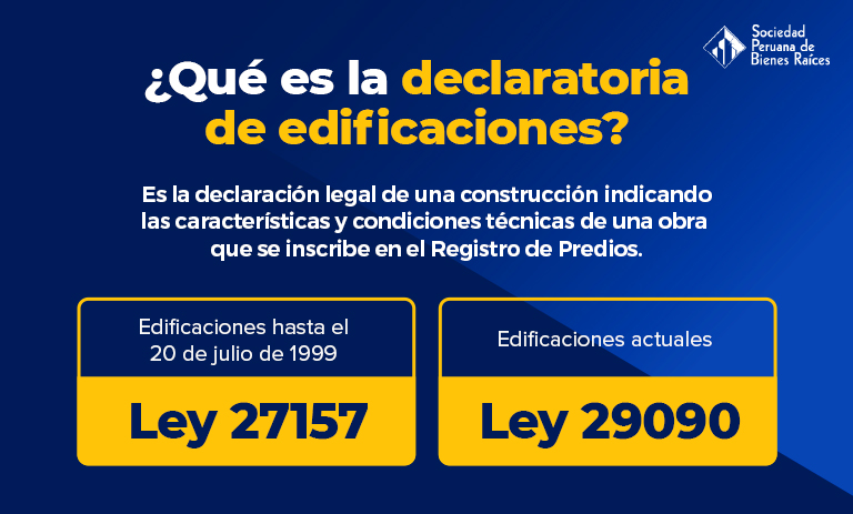 ¿Qué es la declaratoria de edificaciones?