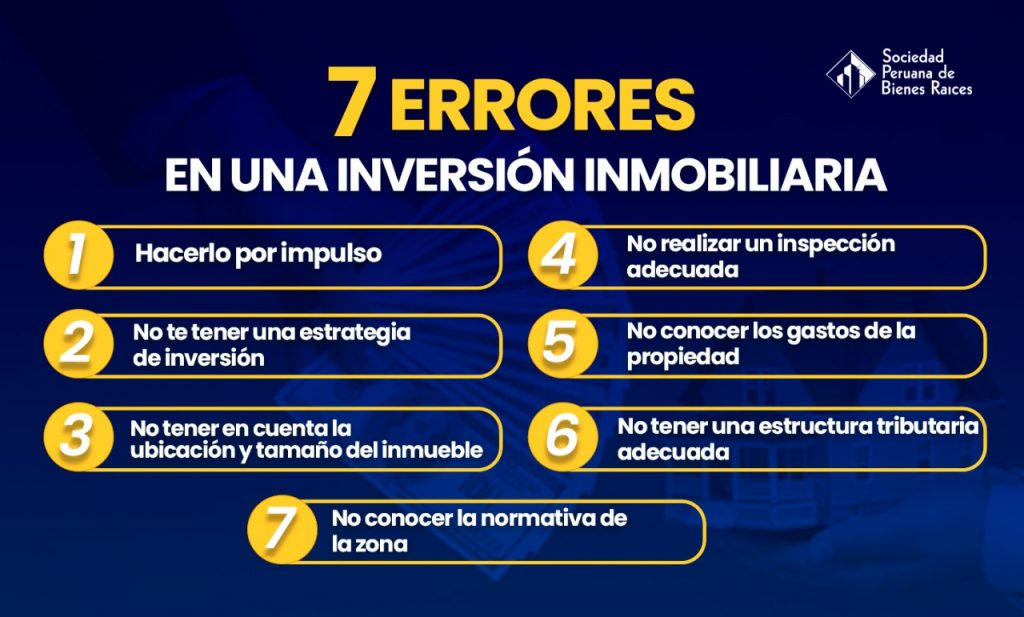 7 errores en una inversion inmobiliaria