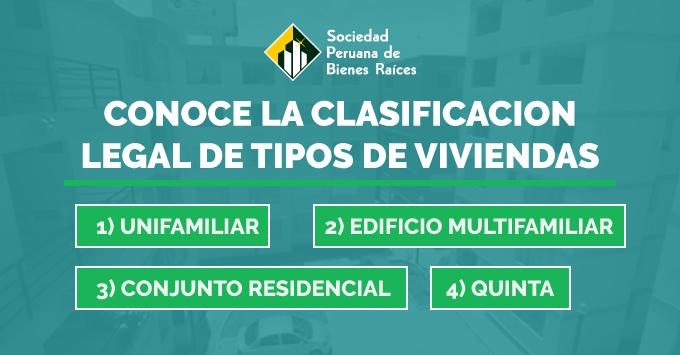 CONOCE LA CLASIFICACION LEGAL DE TIPOS DE VIVIENDAS