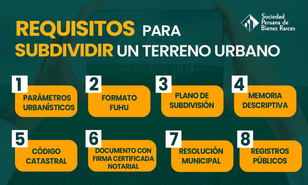 Requisitos para subdividir un terreno urbano