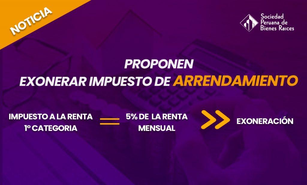 EXONERAR IMPUESTO DE ARRENDAMIENTO