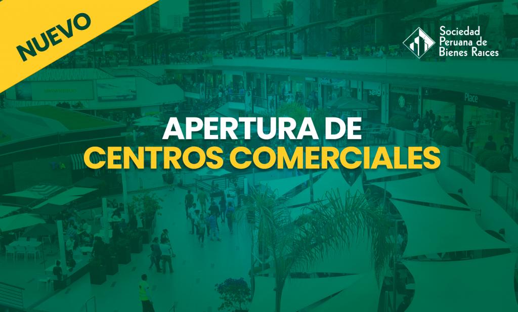 apertura de centros comerciales