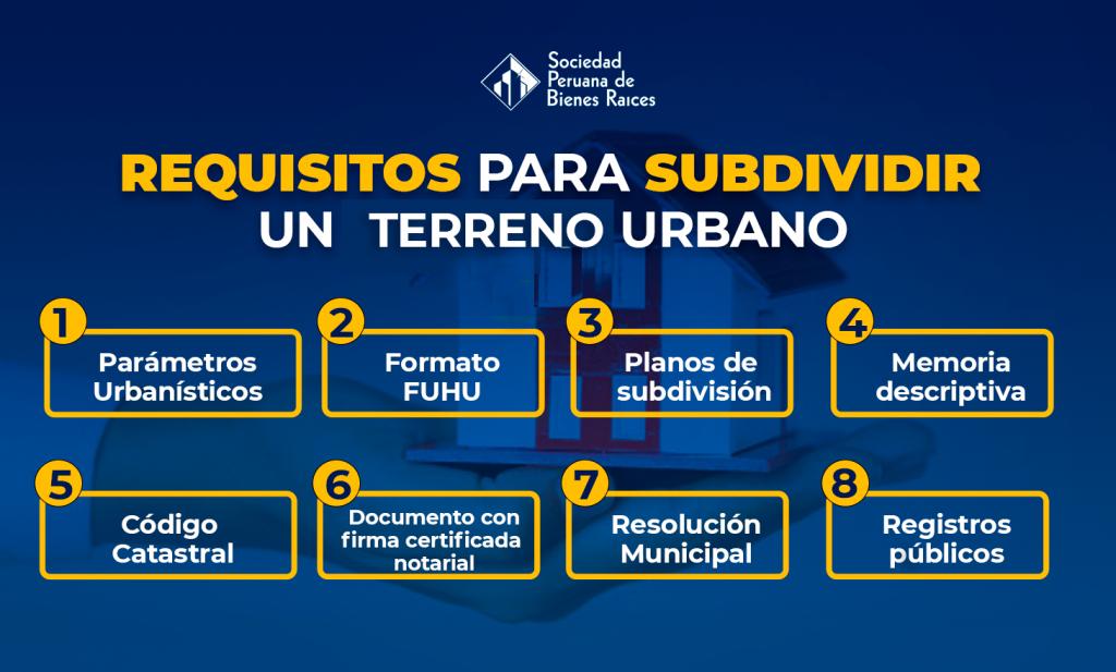 Requisitos para subdividir un terreno urbano